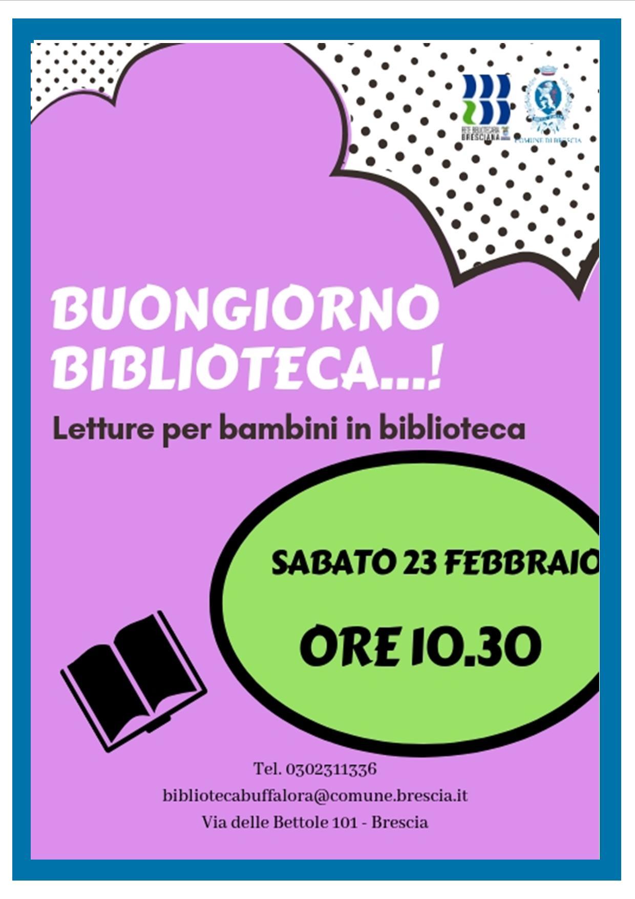 Buongiorno Biblioteca Letture Per Bambini Rete Bibliotecaria